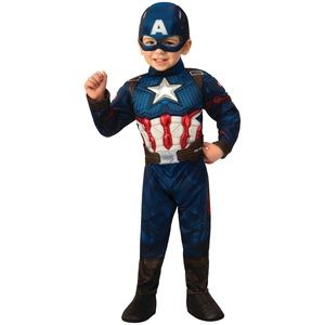 Toddler Boys' Marvel Captain America Deluxe Muscle